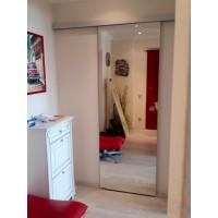Раздвижная дверь купе зеркало триплекс