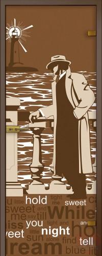 Дверь стеклянная Маяк - Сатинато Бронза