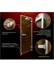 Стеклянная дверь для хамам - Лайт