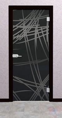 Дверь стеклянная межкомнатная Семита - Стекло серое матовое