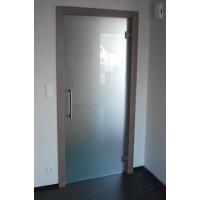 Маятниковая стеклянная дверь Лайт - Сатинато Белое