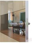 Дверь межкомнатная пвх ДО-501 Анегри светлый глянец - Зеркало бронза