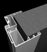Коробка алюминий для стеклянной двери К6