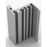 Коробка алюминий Z комплект для стеклянной двери