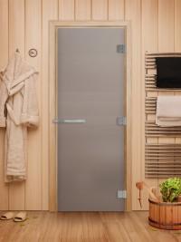 Стеклянная дверь для сауны Эталон - стекло б/ц матовое
