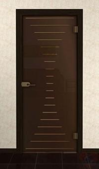 Дверь стеклянная межкомнатная Эдита - Стекло бронза матовое