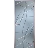 Дверь стеклянная межкомнатная Аврора - Сатинато Белое