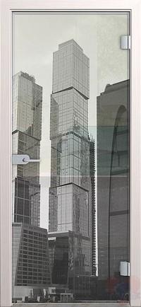 Дверь стеклянная межкомнатная Сити - Стекло прозрачное