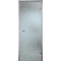 Дверь стеклянная межкомнатная Кракле - Сатинато Белое