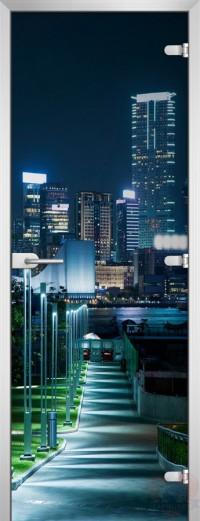 Дверь стеклянная City-10 матовое бесцветное
