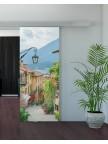 Раздвижная стеклянная дверь с фотопечатью - Ривьера