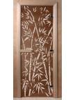 Стеклянная дверь для сауны Ольха - бронза Бамбук