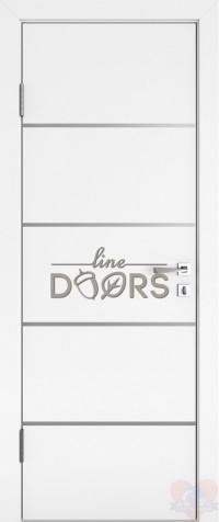 Дверь межкомнатная пвх ДГ-505 Белый глянец