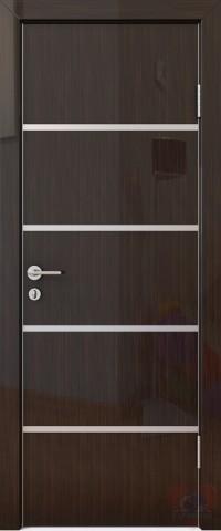 Дверь межкомнатная пвх ДГ-505 Венге глянец