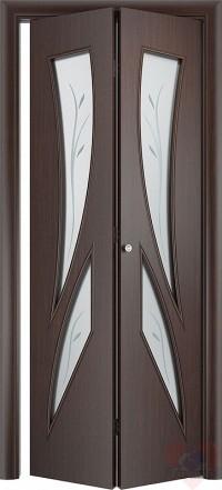 Складная межкомнатная дверь книжка С2(О)Ф