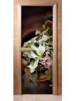 Стеклянная дверь для сауны - фотопечать А008
