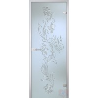 Дверь стеклянная межкомнатная Орхидея