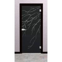 Дверь стеклянная межкомнатная Сентио - Стекло серое матовое