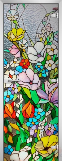 Дверь стеклянная Stained Glass-03 матовое бесцветное