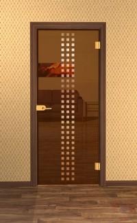 Дверь стеклянная межкомнатная Сорекс - Стекло бронза прозрачное