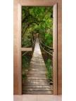 Стеклянная дверь для сауны - фотопечать А083