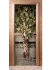 Стеклянная дверь для сауны - фотопечать А011