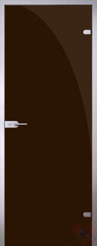 Дверь стеклянная межкомнатная триплекс Коричневый