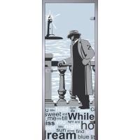 Дверь стеклянная Маяк - Сатинато Белое