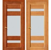 Дверь межкомнатная из массива сосны В-2 остекленная