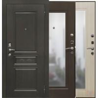 Дверь металлическая SD-Prof-10 Троя Зеркало Венге