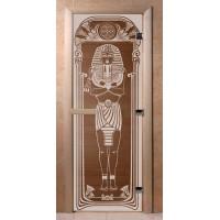 Стеклянная дверь для сауны Ольха - стекло бронза Египет