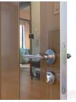 Дверь межкомнатная пвх ДО-504 Анегри темный глянец - Зеркало бронза