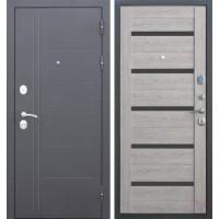 Дверь металлическая Троя Серебро Дымчатый дуб