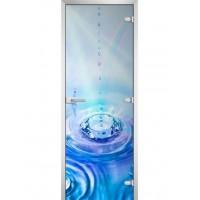 Дверь стеклянная Abstraction-17 матовое бесцветное