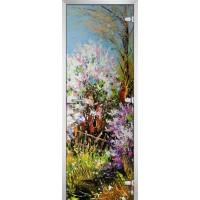 Дверь стеклянная Painting-01 матовое бесцветное