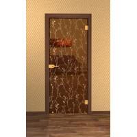 Дверь стеклянная межкомнатная Винея-02 - Стекло бронза прозрачное