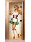 Стеклянная дверь для сауны - фотопечать А018