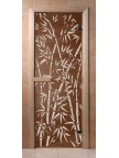 Дверной блок для бани Бамбук, стекло бронза 6мм
