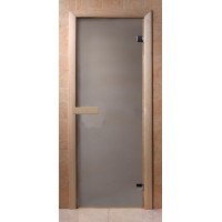Стеклянная дверь для сауны Эконом - бесцветное матовое
