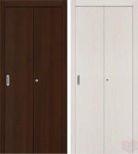 Складная ламинированная дверь книжка Гост венге/бел.дуб