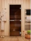 Стеклянная дверь для сауны Эталон - стекло бронза
