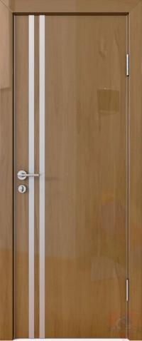 Дверь межкомнатная пвх ДГ-506 Анегри тёмный глянец