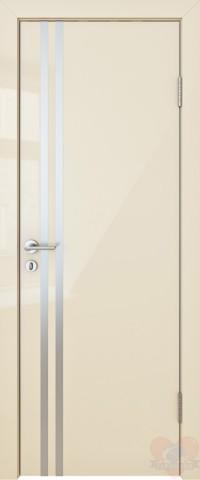 Дверь межкомнатная пвх ДГ-506 Ваниль глянец