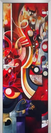 Дверь стеклянная Painting-19 матовое бесцветное