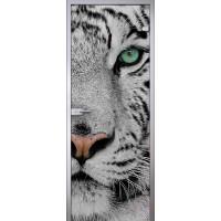 Межкомнатная стеклянная дверь Белый тигр