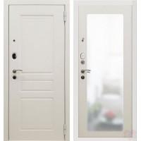 Дверь металлическая SD Prof-10 Троя Белая зеркало