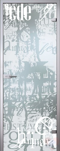 Дверь стеклянная межкомнатная Граффити - Сатинато Белое