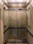 Стеклянная дверь для душа с перегородкой - стекло б/ц прозрачное