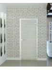 Стеклянная межкомнатная дверь Лофт - Сатинато Бел