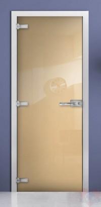 Дверь стеклянная фотопечать RAL 1015 матовое бесцветное